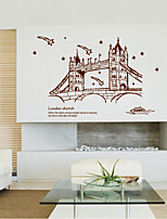 Wall Stickers Wall Decals Style London Gemini Bridge PVC Wall Stickers