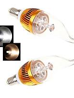 2 Stück Ding Yao Kerzenlampen E14 15 W 450 LM 2800-3500/6000-6500 K 5LED COB Warmes Weiß/Kühles Weiß AC 85-265 V