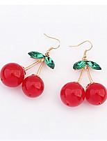 Cherry Alloy Drop Earrings
