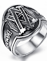 Mens Stainless Steel Ring, Vintage, Fashion KR2015