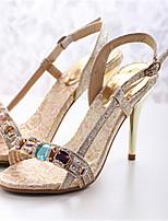 Women's Shoes Stiletto Heel Heels/Open Toe Sandals Outdoor/Dress Gold