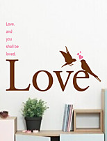 Wall Stickers Wall Decals, Modern Romantic English PVC Wall Stickers