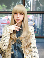 Japan And South Korea Explosion Models of High-Quality High-Temperature Silk Blonde  Long Curly Hair