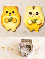 3 pièces forme de cartoon hamster emporte-pièces prévues moules de coupe de fruits en acier inoxydable
