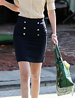 Women's Double Breasted Waist Occupation Bust Skirt
