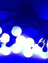 4W 5 Meter Outer Diameter 20pcs Bulb LED Modeling String Lights  Super Big Ball Lights, Blue Color