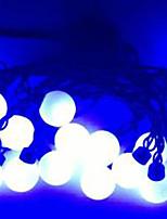 4w 5 metros de diámetro exterior del bulbo 20pcs llevó luces de la secuencia de modelado súper grandes luces de la bola, color azul