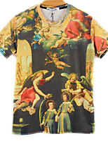 European Style TEE Digital Printing 3D T-shirt Mary Cupid Harajuku Sleeved T-shirt