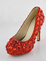 Women's Shoes Stiletto Heel Heels crystals Pumps/Heels Wedding/Party & Evening/Dress Red