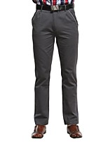 JAMES Men's Fall Slim Business Casual&Fashion Cotton Straight Pants/Trousers with Solid Deep-Gray Color