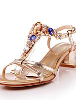 Women's Shoes Synthetic/Leatherette/Rubber Low Heel Peep Toe/Novelty/Styles/Open Toe SandalsParty &