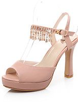 Women's Shoes Chunky Heel Peep Toe/Platform Sandals Dress Blue/Pink/Beige