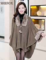 Women's Vintage/Casual/Work Thick Long Sleeve Long Coat (Acrylic) SF7A08
