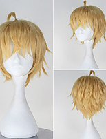 Seraph of the End Hyakuya Mikaera Men's Short Straight Golden Color Anime Cosplay Wig