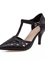 Women's Shoes Kitten Heel Heels/Pointed Toe Pumps/Heels Outdoor/Office & Career/Dress Black/White/Beige