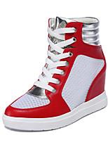Zapatos de mujer Tul Tacón Cuña Cuñas Sneakers a la Moda Casual Negro/Rojo