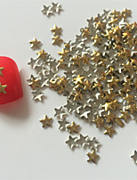200PCS Golden Star Rivet Nail Art Decorations