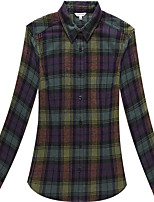 Women's Long Sleeve Checked Flannel Shirts