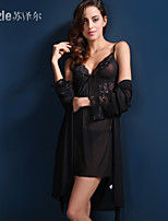 Suzel summer ladies lingerie sexy pajamas nightdress Nightgown temptation three suit 81151
