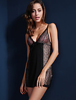 Suzel summer Lingerie Sexy Lady transparent pajamas nightdress temptation two suit