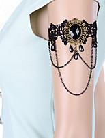 Vintage Big Gem Tassel Chain Bracelet