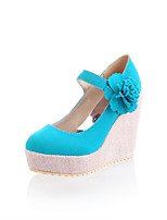 Women's Shoes Synthetic Wedge Heel Heels/Basic Pump Pumps/Heels Office & Career/Dress/Casual Black/Blue/Pink/Beige