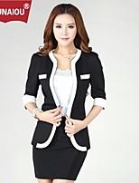 Ounaiou@Women's Temperament Short Sleeve Suit Blazer