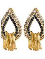 Women's Elegant Water Drop Inlay Zircon Stud Earrings HJ0108