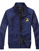 Men's Casual/Sport Pure Long Sleeve Regular Jacket