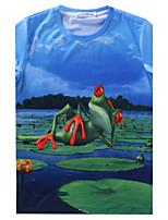 European Style TEE Digital Printing 3D T-shirt Lake Frog Harajuku Sleeved T-shirt
