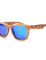 Polarized Wood Square Sunglasses