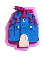 moldes de cozimento molde castelo fondant bolo decoração do molde