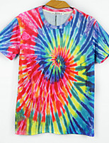 European Style TEE Digital Printing 3D T-shirt Colorful Whirlpool Harajuku Sleeved T-shirt