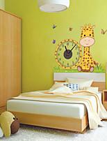 DIY 3D Cartoon Giraffe Wall Clock