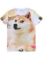 European Style TEE Digital Printing 3D T-shirt Fat Husky Diamond Harajuku Sleeved T-shirt