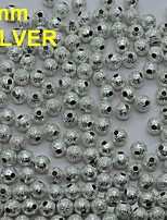 N133 100pcs/bag 5mm Metal Rhinestones Round Shape Silver Color with Hole for Rhinestones Nail Art Decor