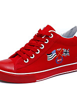 Scarpe Donna - Sneakers alla moda - Ufficio e lavoro / Casual - Creepers / Punta arrotondata - Piatto - Di corda - Rosso