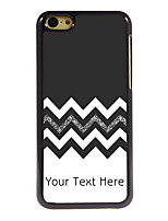 Personalized Gift The Black and White Design Aluminum Hard Case for iPhone 5C