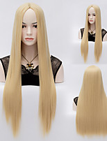 High Quality Fashion Romantic U Part Wigs Women Long Straight Wig Hair Blonde
