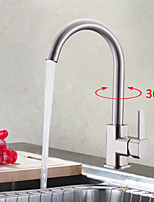 Shengbaier Centerset Deck Mounted Nickel Brushed Kitchen Faucet