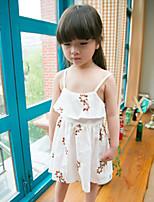 Girl's Summer Micro-elastic Thin Dresses (Cotton Blends)