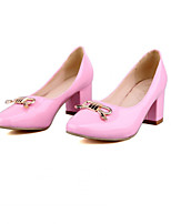 Women's Shoes  Stiletto Heel Round Toe Pumps/Heels Outdoor/Office & Career/Casual Black/Green/Pink/Red/White/Beige