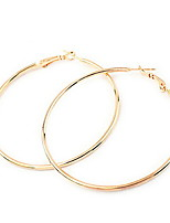 European Style Circle Alloy Hoop Earrings