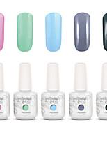Gelpolish Nail Art Soak Off UV Nail Gel Polish Color Gel Manicure Kit 5 Colors Set S137