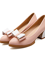 Women's Shoes Chunky Heel Heels/Pointed Toe Pumps/Heels Dress Blue/Pink/White