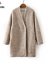 LIVAGIRL®Women's Coat Fashion Long Sleeve Loose Woolen Overcoat Europe Style Winter Casual Keep Warm Outwear