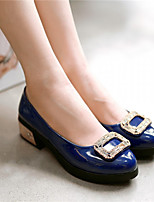 Women's Shoes Synthetic Low Heel Heels/Basic Pump Pumps/Heels Office & Career/Dress/Casual Blue/Purple/Red/Beige
