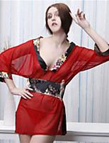 Vêtement de nuit Femme Nuisette & Culottes/Robe de chambre/Ultra Sexy/Uniformes & Tenues Chinoises Spandex