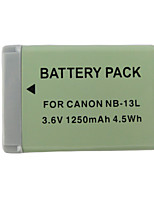 13l 1250mAh batería de la cámara para Canon PowerShot G7 x