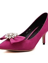 Women's Shoes Suede Kitten Heel Heels Pumps/Heels Casual Black/Pink/Gray